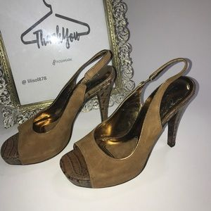 Donald J. Pliner Shoes - Donald J Pliner Couture Canna Slingback Suede Heel